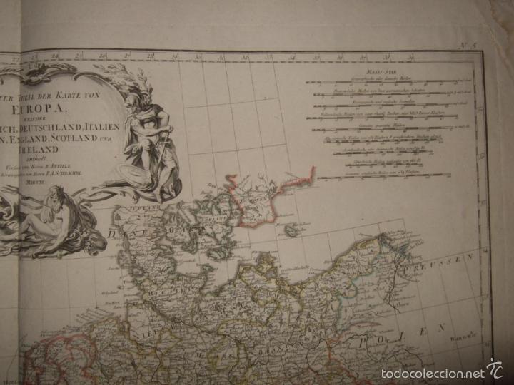 Arte: Dos grandes mapas de Europa occidental, 1790. DAnville/Schraembl - Foto 7 - 56205219