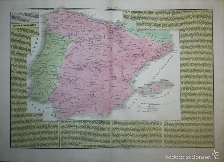 MAPA DE ESPAÑA Y PORTUGAL, 1827. G. TASSO/LE LAGE (Arte - Cartografía Antigua (hasta S. XIX))