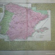 Arte: MAPA DE ESPAÑA Y PORTUGAL, 1827. G. TASSO/LE LAGE. Lote 56209336
