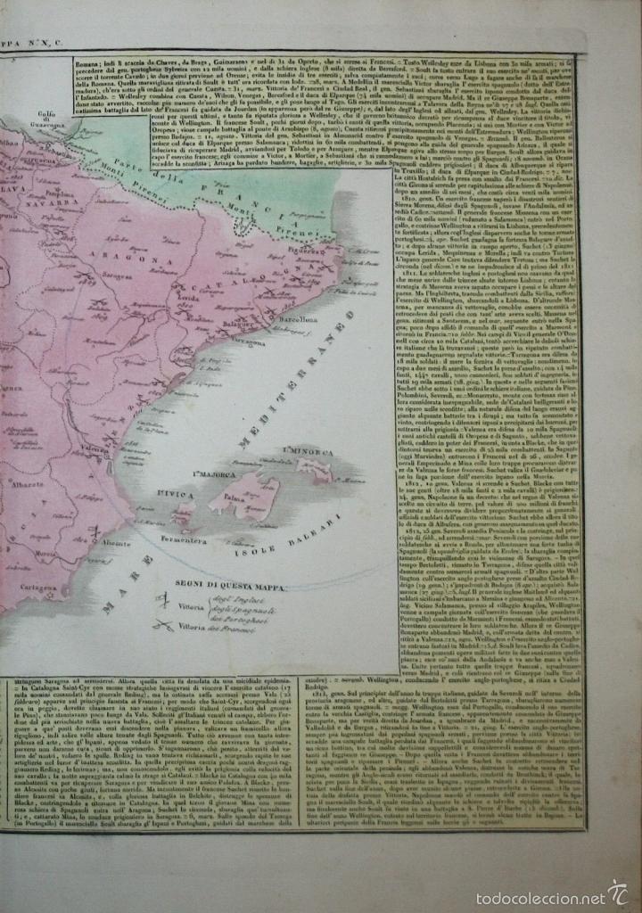 Arte: Mapa de España y Portugal, 1827. G. Tasso/Le Lage - Foto 3 - 56209336