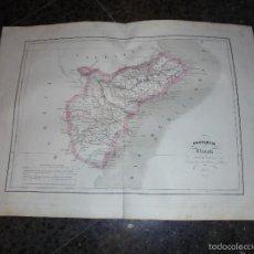 Arte: ANTIGUO MAPA PROVINCIA DE ALICANTE 1853 GRABADO POR R. ALABERN Y E. MABON GRABADO ORIGINAL . Lote 56210470