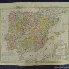 Arte: GRAN MAPA DE ESPAÑA Y PORTUGAL, 1782. HOMANN. Lote 56211322