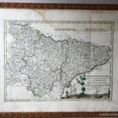 Arte: MAPA DE LA PROVINCIA DI SORIA E LE PROVINCIE DI GUIPUZCOA - NAVARRA - ARAGONA E CATALOGNA. AÑO 1791. Lote 56236264