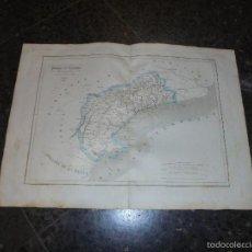 Arte: ANTIGUO MAPA - PROVINCIA DE TARRAGONA PARTE DE CATALUÑA - GRABADO POR R. ALABERN Y E. MABON 1853. Lote 56258090