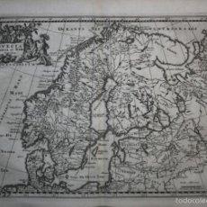 Arte: MAPA DE NORUEGA, SUECIA, FINLANDIA...1729. CLUVER. Lote 56388101