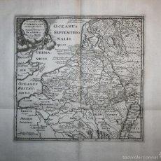 Arte: MAPA DE LOS PAÍSE BAJOS, LUXEMBURGO...1729. CLÜVER. Lote 227032480