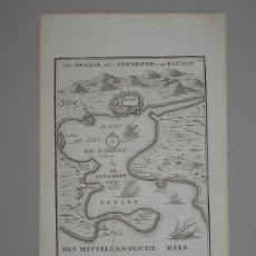 Arte: MAPA DE TOULON (FRANCIA), 1690. BODENEHR. Lote 56389800