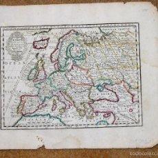 Arte: MAPA DE EUROPA, 1719. CHIQUET. Lote 56483144