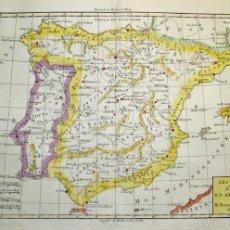 Arte: MAPA DE ESPAÑA Y PORTUGAL, 1781. BONNE. Lote 56483914