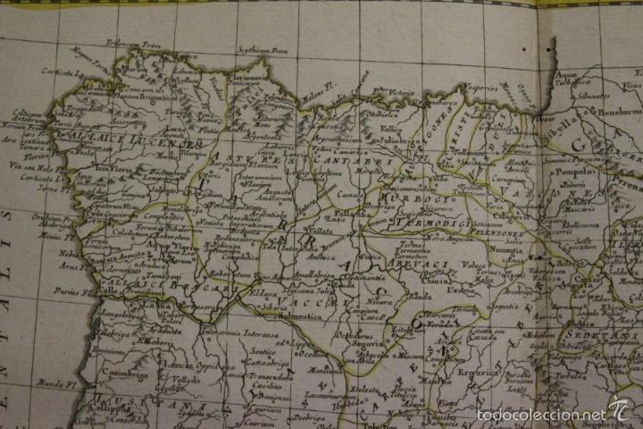 Arte: Mapa de España y Portugal antiguos, 1785. Zatta - Foto 3 - 56486554
