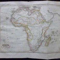 Arte: MAPA DE ÁFRICA POR J. B. POIRSON, GRABADO ACERO, COLOREADO A MANO, C. 1830. CARTOGRAFÍA, POLÍTICO. Lote 56509579