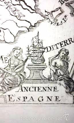 Arte: Mapa antiguo España año 1719 con certificado autenticidad . Mapas antiguos España general - Foto 2 - 56647097