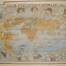 Arte: MAPA MUY ANTIGUO. TYPVS VNIVERSALIS. BASILEA AÑO 1545 ORIGINAL. COLOREADO A MANO. UNA JOYA. Lote 56826948