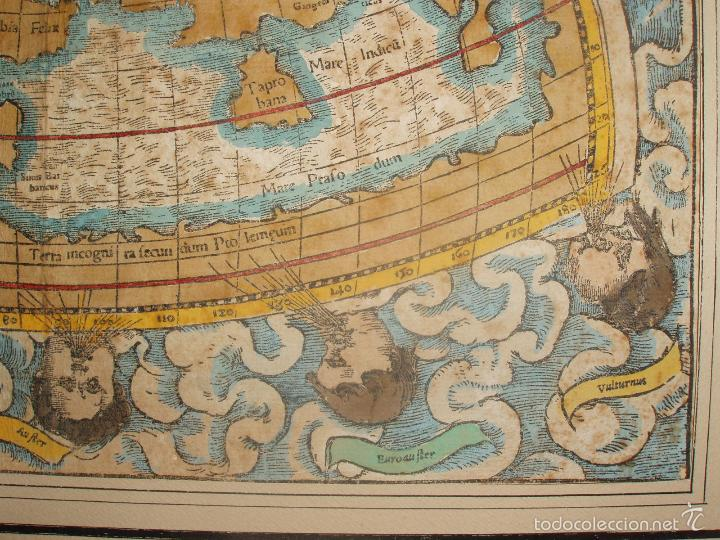 Arte: ANTIGUO MAPA DEL MUNDO. TIPVS ORBIS A PTOL. DESORIPTVS. BASILEA 1540-1548. ORIGINAL. - Foto 4 - 56827276
