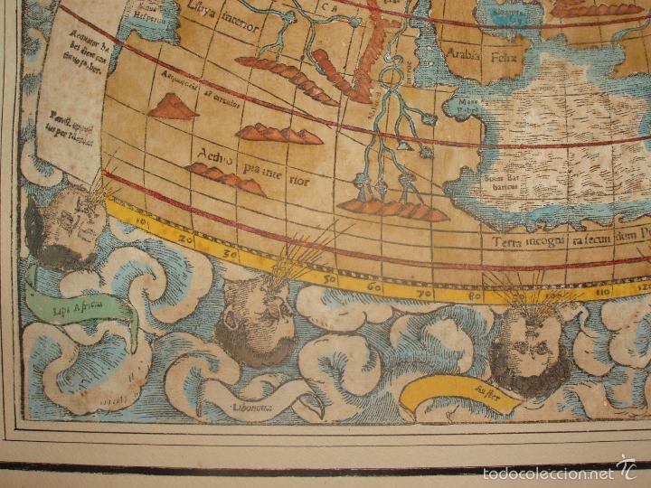 Arte: ANTIGUO MAPA DEL MUNDO. TIPVS ORBIS A PTOL. DESORIPTVS. BASILEA 1540-1548. ORIGINAL. - Foto 5 - 56827276