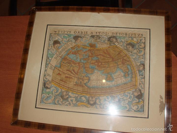 Arte: ANTIGUO MAPA DEL MUNDO. TIPVS ORBIS A PTOL. DESORIPTVS. BASILEA 1540-1548. ORIGINAL. - Foto 11 - 56827276