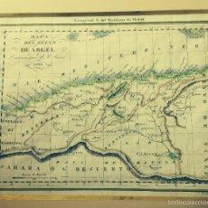 Arte: MAPA DEL REINO DE ARGEL 1830 (CON I. BALEARES Y CERDEÑA). Lote 56851109