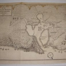 Arte: GRABADO PLAN DE ASEDIO DE CUBA. 1762. PLAN OF THE SIEGE OF THE HAVANA, DRAWN BY OFFICER ON THE SPOT.. Lote 56910928