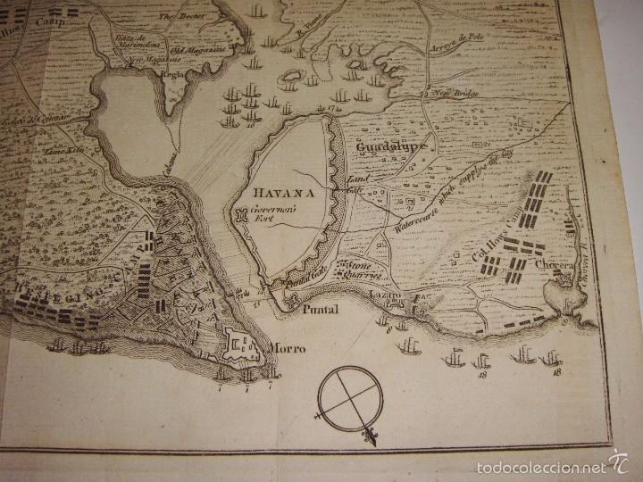 Arte: Grabado Plan de Asedio de Cuba. 1762. Plan of the Siege of the Havana, Drawn by Officer on the spot. - Foto 2 - 56910928