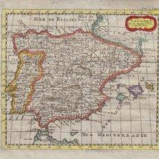 Arte: MAPA DE ESPAÑA Y PORTUGAL, 1721. N. SANSON. Lote 57183806