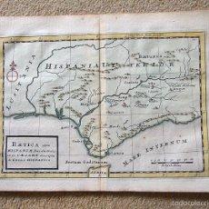 Arte: MAPA DEL SUR DE ESPAÑA, BAETICA ROMANA, GUERRA CIVIL DE CÉSAR, 1721. HERMAN MOLL. Lote 203442357