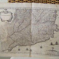 Arte: CATALONIA * CIRCA 1640 * MAPA DE BLAEU 58 CM X 48 CM + 6 PAG DE TEXTO SOBRE CATALUNYA. Lote 58099035