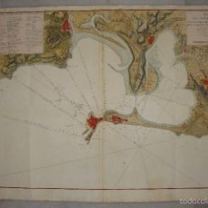 Arte: PLANO DEL PUERTO DE CÁDIZ. 1789. ILUMINADO. DON VICENTE TOFIÑO DE SAN MIGUEL. (MUY RARO). Lote 58118498