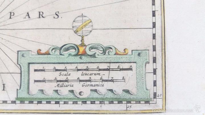 Arte: Mapa antiguo de Cataluña de 1638 Jansonius/Hondius con certif. autentic. Mapas antiguos Cataluña - Foto 4 - 147326914
