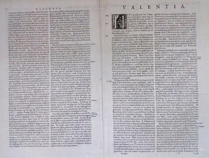 Arte: Mapa antiguo Valencia de Blaeu año 1640 con certificado autentic. Mapas antiguos reino Valencia - Foto 2 - 53959266