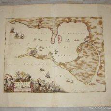 Arte: MAPA DE CADIZ. 1670. FREDERIK DE WIT. INSULA GADITANA VULGO ISLA DE CÁDIZ.. Lote 58197861