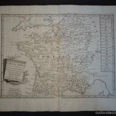 Arte: MAPA DE FRANCIA ANTIGUA, 1794.PAZZINI. Lote 58216264