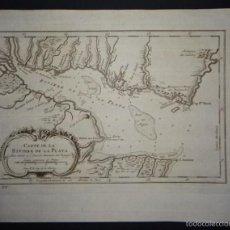 Arte: MAPA DEL MAR DE PLATA ( AMÉRICA DEL SUR ) , 1755. BELLIN. Lote 58193193