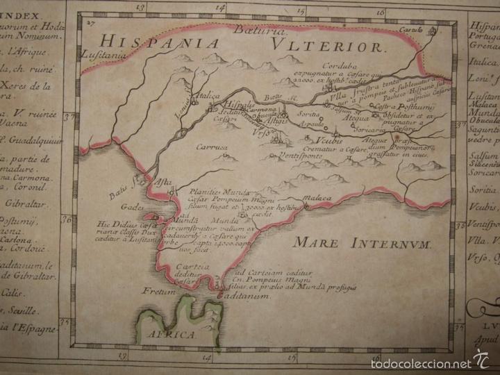 MAPA DE ANDALUCÍA ROMANA (ESPAÑA), 1670. DU VAL (Arte - Cartografía Antigua (hasta S. XIX))