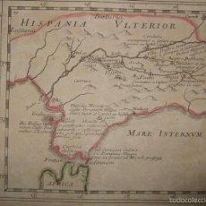 Arte: MAPA DE ANDALUCÍA ROMANA (ESPAÑA), 1670. DU VAL. Lote 58277007