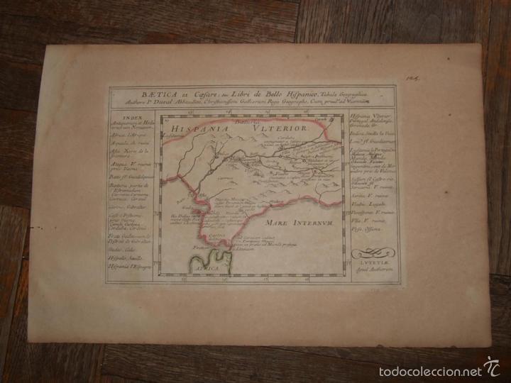 Arte: Mapa de Andalucía romana (España), 1670. Du Val - Foto 2 - 58277007