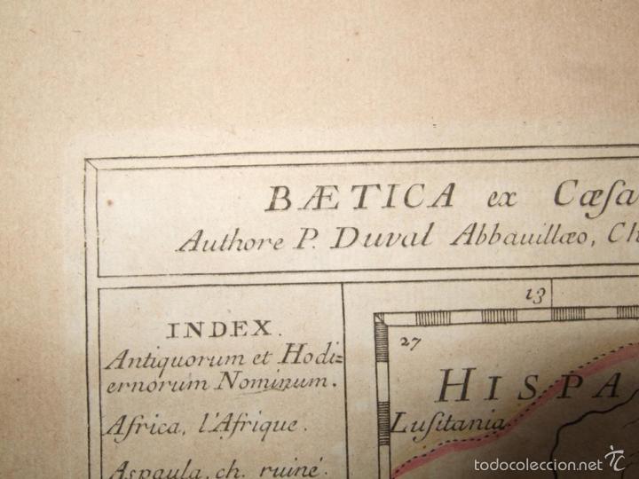 Arte: Mapa de Andalucía romana (España), 1670. Du Val - Foto 3 - 58277007
