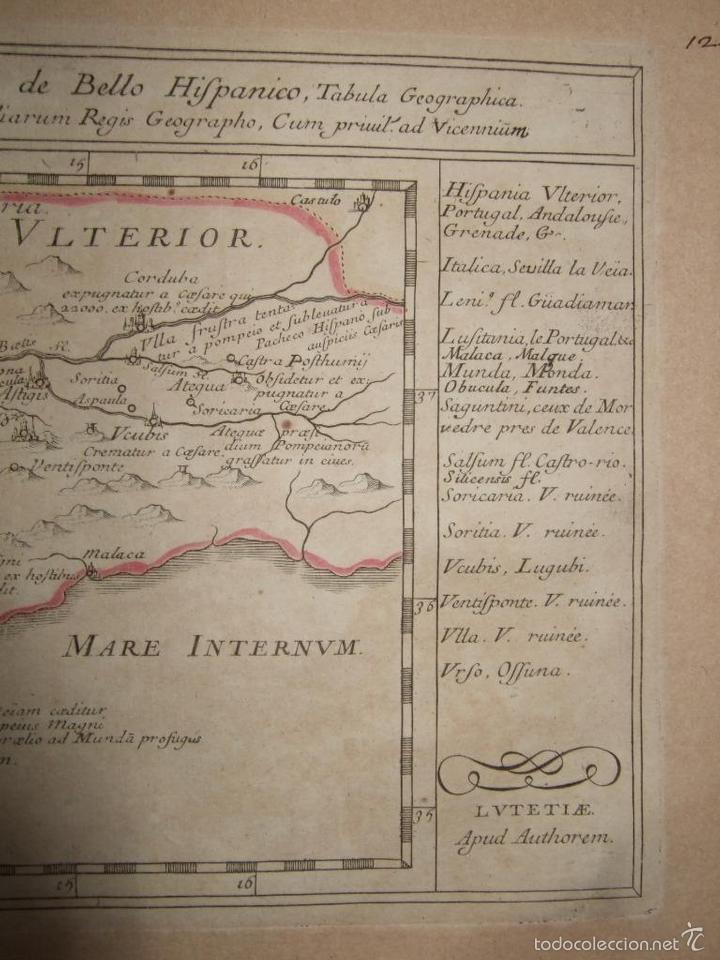 Arte: Mapa de Andalucía romana (España), 1670. Du Val - Foto 5 - 58277007