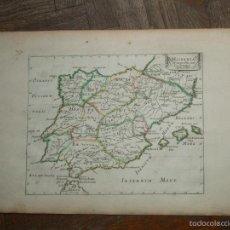 Arte: MAPA DE ESPAÑA Y PORTUGAL ANTIGUOS, 1650. N. SANSON. Lote 58277859