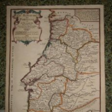 Arte: MAPA DE PORTUGAL, 1705. NICOLÁS DE FER. Lote 58277899