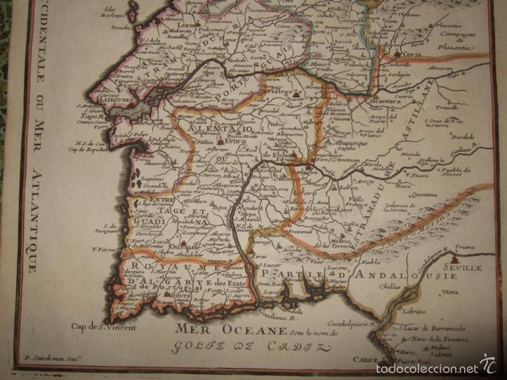 Arte: Mapa de Portugal, 1705. Nicolás de Fer - Foto 5 - 58277899