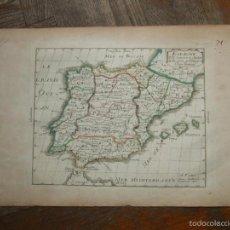 Arte: MAPA DE ESPAÑA Y PORTUGAL, 1702. N. SANSON. Lote 58277936