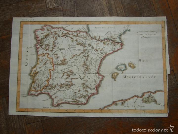 MAPA DE ESPAÑA Y PORTUGAL, 1720. LENGLET (Arte - Cartografía Antigua (hasta S. XIX))