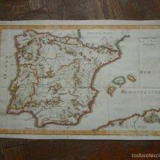 Arte: MAPA DE ESPAÑA Y PORTUGAL, 1720. LENGLET. Lote 58296667