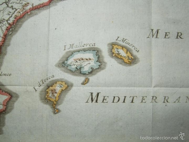 Arte: Mapa de España y Portugal, 1720. Lenglet - Foto 4 - 58296667