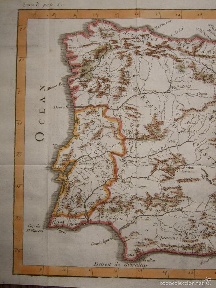 Arte: Mapa de España y Portugal, 1720. Lenglet - Foto 5 - 58296667