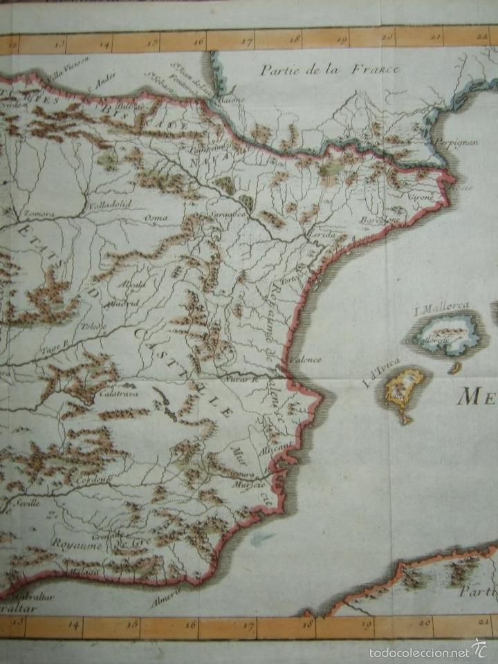 Arte: Mapa de España y Portugal, 1720. Lenglet - Foto 6 - 58296667