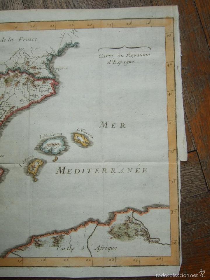 Arte: Mapa de España y Portugal, 1720. Lenglet - Foto 7 - 58296667