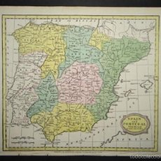 Arte: MAPA DE ESPAÑA Y PORTUGAL, 1810. BARLOW. Lote 58586607