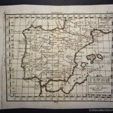 Arte: MAPA DE ESPAÑA Y PORTUGAL, 1720. D. MACQUART. Lote 58586642
