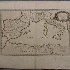 Arte: GRAN MAPA HISTÓRICO DE LA EXPEDICIÓN DE ANIBAL (EUROPA), 1666. PIERRE DU VAL/MARIETTE. Lote 58644126